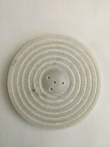 Incense holder - White Circle