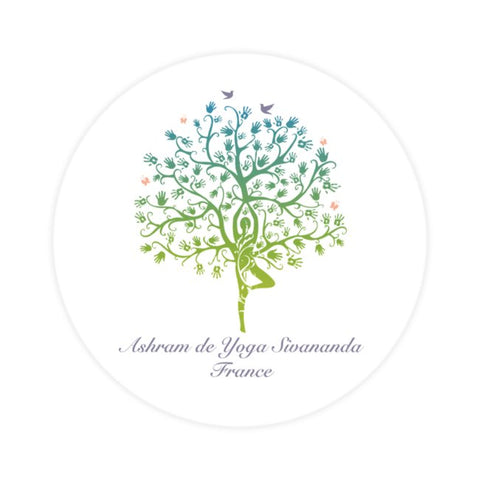 Ashram Tree Waterproof sticker  5 x 5 cm