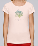 100% Organic Cotton Candy Pink Women's T-shirt (Ashram Tree)