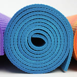 Rainbow 6 cm thick Yoga Mat (Blue)