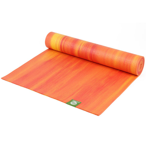 Rainbow 6 cm thick Yoga Mat (Orange)