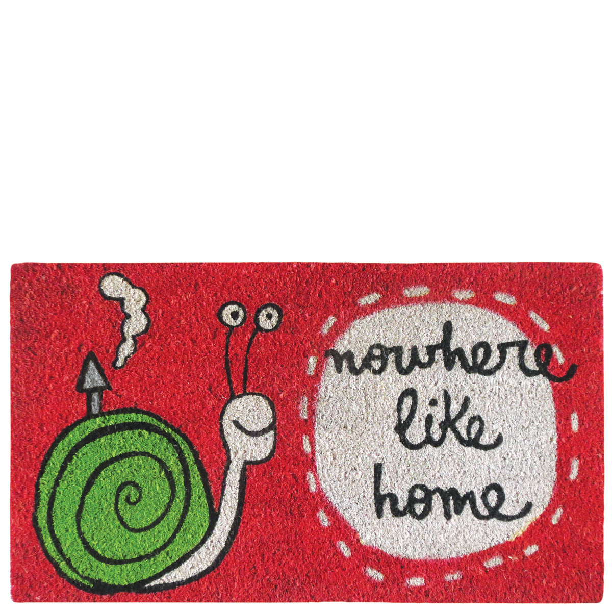 "Doormat ""nowhere like home"" red"