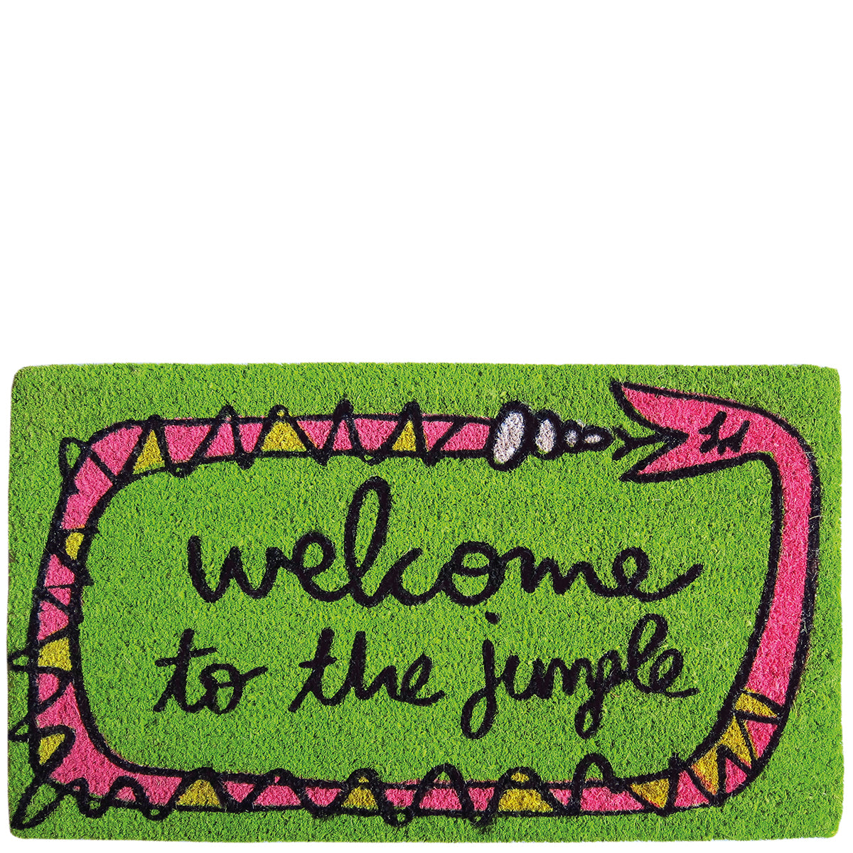 "Doormat ""welcome to the jungle"" green"