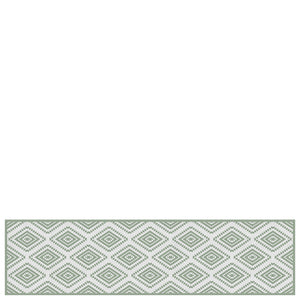 "Vinyl hall runner mat ""Marrakech"" green"