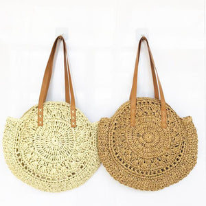 Addie boho straw tote bag