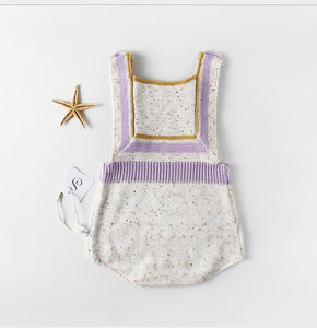 Aria knitted baby romper