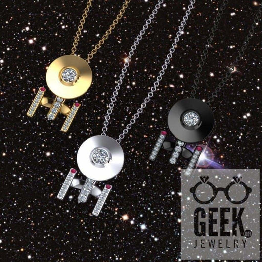 Geek Dot Jewelry Pendants & Charms Boldly Going Around Your Neck