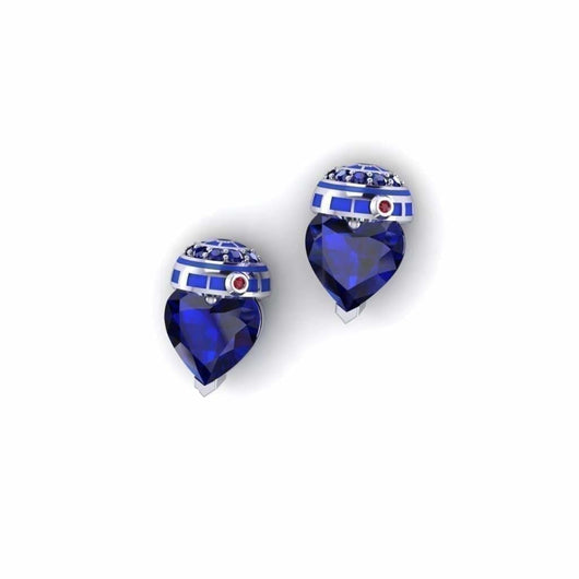 Geek Dot Jewelry Earrings Droid Heart Studs- NEW!!!