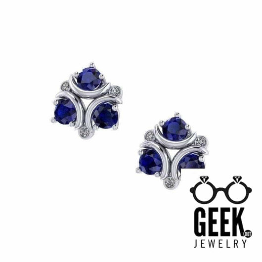 Geek Dot Jewelry Earrings Zora's Sapphire Stud Earrings