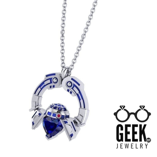 Geek Dot Jewelry Necklace R2 Claddaugh Pendant