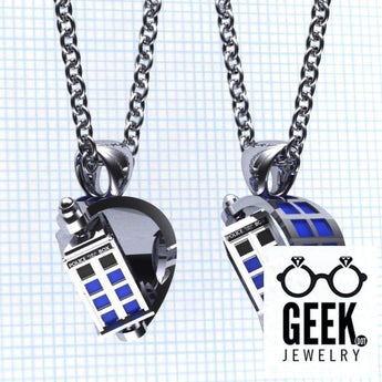 Geek Dot Jewelry Necklace The Spin Doctor- TARDIS Pendant
