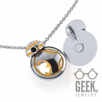 Geek Dot Jewelry Pendants & Charms BB Kinetic Pendant,  Sterling Silver BB Necklace