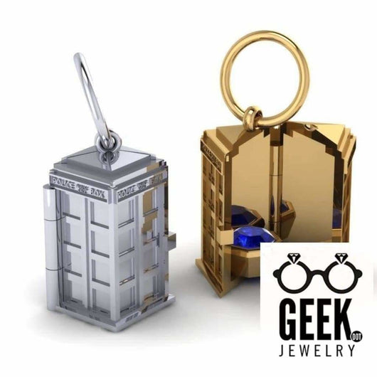 Geek Dot Jewelry Pendants & Charms TARDIS Locket Pendant,