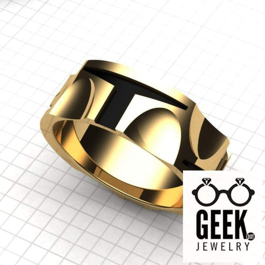 Geek Dot Jewelry Ring Boba Gold Hunter Band-Gents