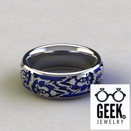 Geek Dot Jewelry Ring Commited to the Alliance Band-  Gents