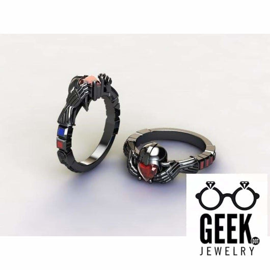 Geek Dot Jewelry Ring Darth Claddagh Ring