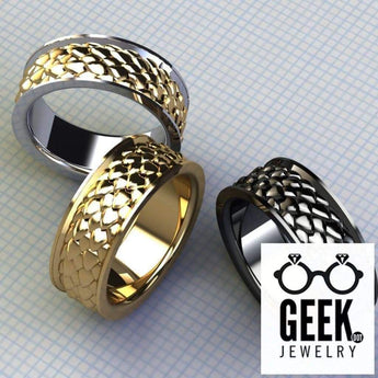 Geek Dot Jewelry Ring Dragon Scale Ring- Gents