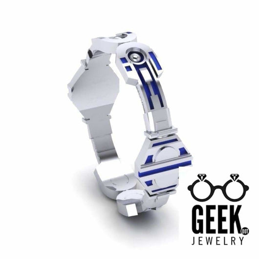 Geek Dot Jewelry Ring Droid Plain Band- Ladies