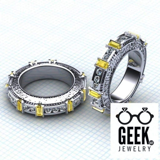 Geek Dot Jewelry Ring Gateway to the Stars- Ladies