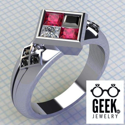 Geek Dot Jewelry Ring Harley Lovers- No Joke Engagement- Ladies