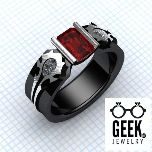 Geek Dot Jewelry Ring Horde My Love. Big and Bold -Gents
