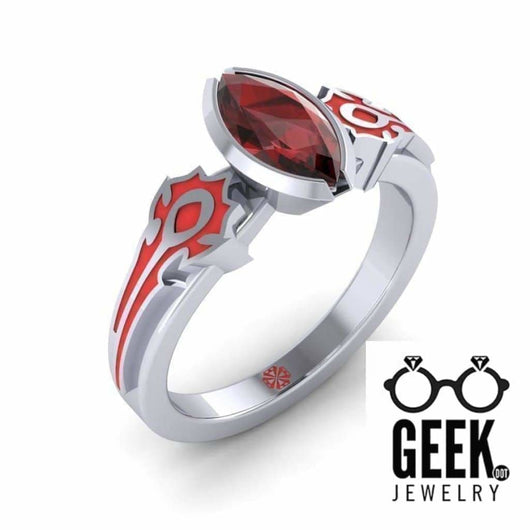Geek Dot Jewelry Ring Horded Enamel