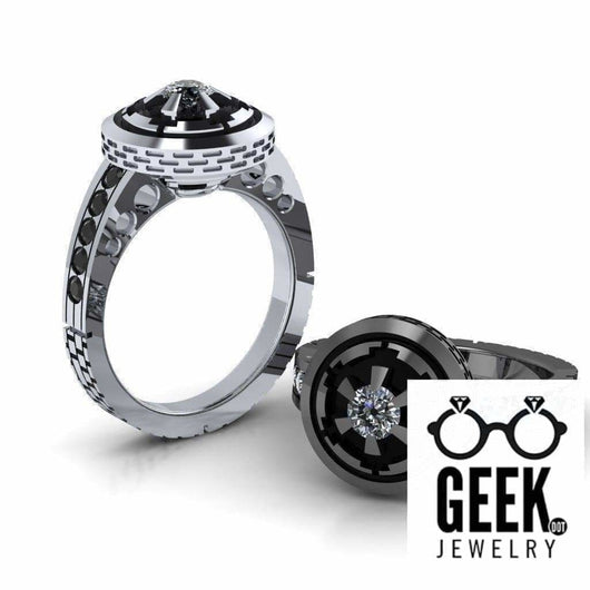 Geek Dot Jewelry Ring Imperial Engagement Ring - Ladies