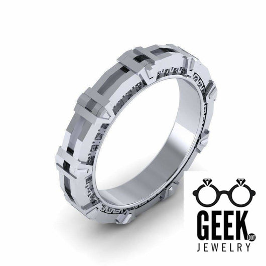 Geek Dot Jewelry Ring Kinetic Gateway to the Stars- Gents