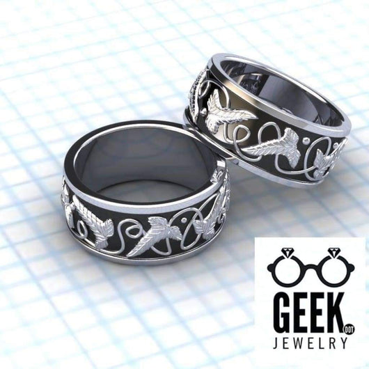 Geek Dot Jewelry Ring Leaf it to Lorien Band -GENTS