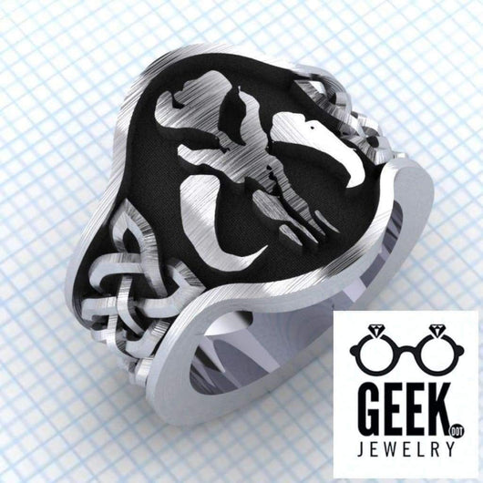 Geek Dot Jewelry Ring Mythosaur Lost it's Head- Gents
