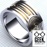 Geek Dot Jewelry Ring Protocol droid band,Band - Gents