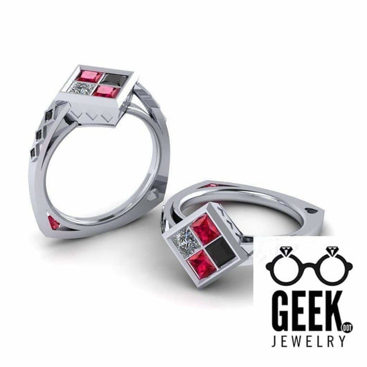 Geek Dot Jewelry Ring Quinn-ThinBand Version- HQ Lovers- No Joke Engagement - Ladies