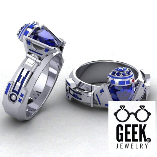 Geek Dot Jewelry Ring R2 Claddagh Ring- GENTS