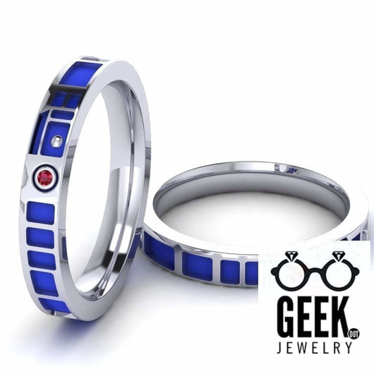 Geek Dot Jewelry Ring R2 Head Band Thin - Ladies