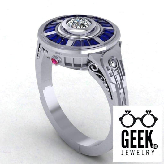 Geek Dot Jewelry Ring R2 Impression Ring