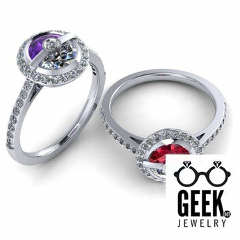 Geek Dot Jewelry Ring Simple Poke Halo -  Ladies