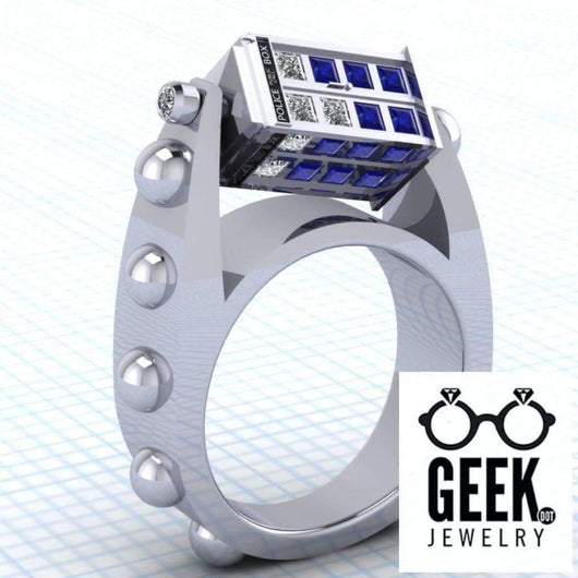 Geek Dot Jewelry Ring The Original Spin Doctor- Ladies