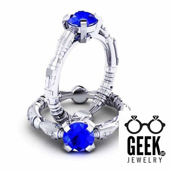Geek Dot Jewelry Ring The River Song Sonic - Solitare- Ladies