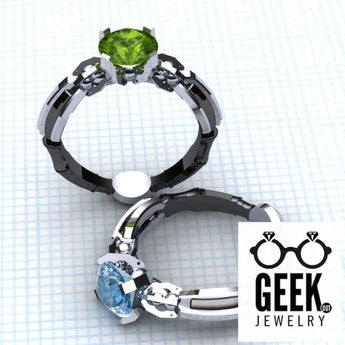 Geek Dot Jewelry Ring The Sonic - Solitare - Ladies