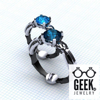 Geek Dot Jewelry Ring The Super Sonic Solitare Ring- Ladies/Gents