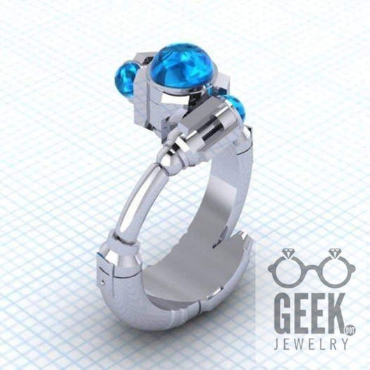 Geek Dot Jewelry Ring The Tenth Sonic - Solitare Ring,- Ladies