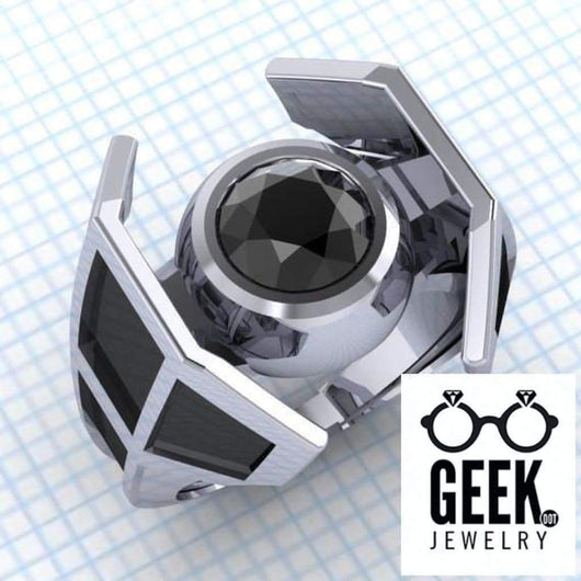 Geek Dot Jewelry Ring Tie The Knot Ring. - Gents