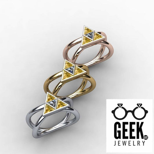 Geek Dot Jewelry Ring Ultimate Tri-Force Split Band- Ladies