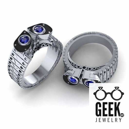 Geek Dot Jewelry Ring Waste Robot Love- Ladies