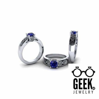 Geek Dot Jewelry Ring Who Could Say No! Ask the Dr., Whovian Engagement Ring- Ladies