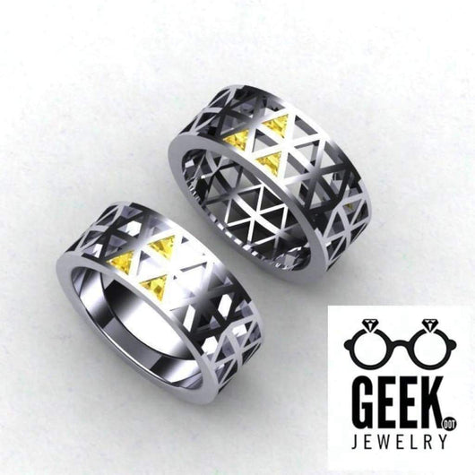 Geek Dot Jewelry Ring Zelda Tri-Force Ring Solid, Zelda Ring- Gents