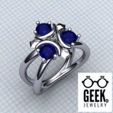 Geek Dot Jewelry Ring Zora's Sapphire- Ladies