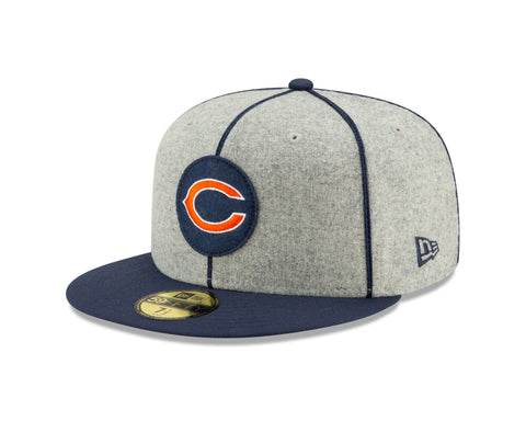 "Chicago Bears Established 2019 On Field 1920 Sideline ""C"" Logo Home 59FIFTY Fitted Hat"