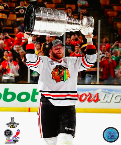 Bryan Bickell Chicago Blackhawks 2013 Stanley Cup Champions Raising Of The Cup Photo