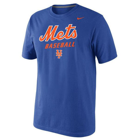 Men's NIKE New York Mets Nike Royal Home Practice T-Shirt